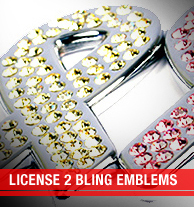 License 2 Bling Emblems