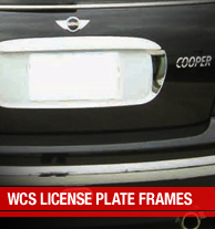 WCS License Plate Frames